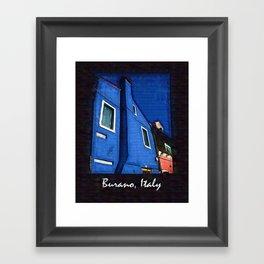 Scenic Burano Italy Framed Art Print