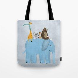 the big blue elephant Tote Bag