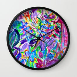 Peace, Love and Happiness Wall Clock