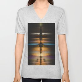 Night Reflection Unisex V-Neck