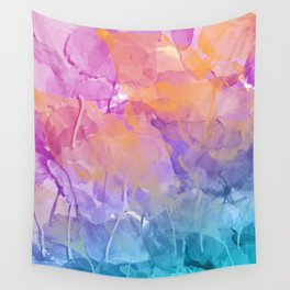 Pastell leaves Wall Tapestry