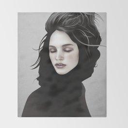 Elsewhere Girl Throw Blanket
