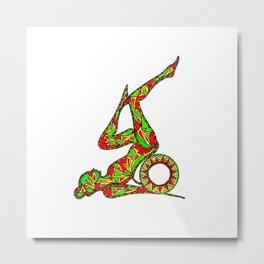 yoga wheel 4 Metal Print