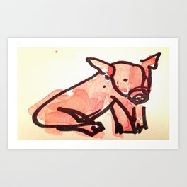 Little Piggie Art Print