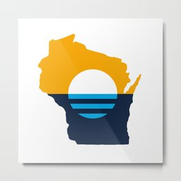 Wisconsin - People's Flag of Milwaukee Metal Print