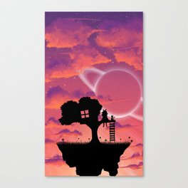Space Tree House Island Canvas Print