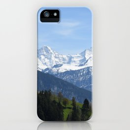 Eiger Bernese Oberland Switzerland iPhone Case