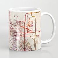 denver Mugs featuring Denver by MapMapMaps.Watercolors
