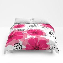 PEPPER POPPIES | fuschia Comforters
