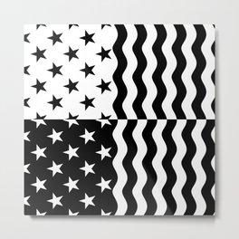 WILDERNESS (BLACK-WHITE) Metal Print