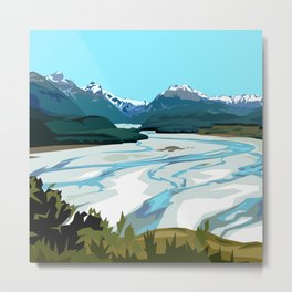 Dart River Valley, Glenorchy Metal Print