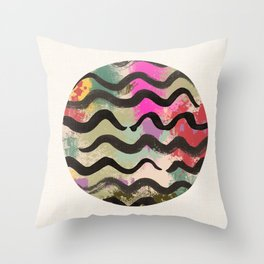 Wave of Orient Throw Pillow