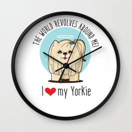 I love my Yorkie Wall Clock