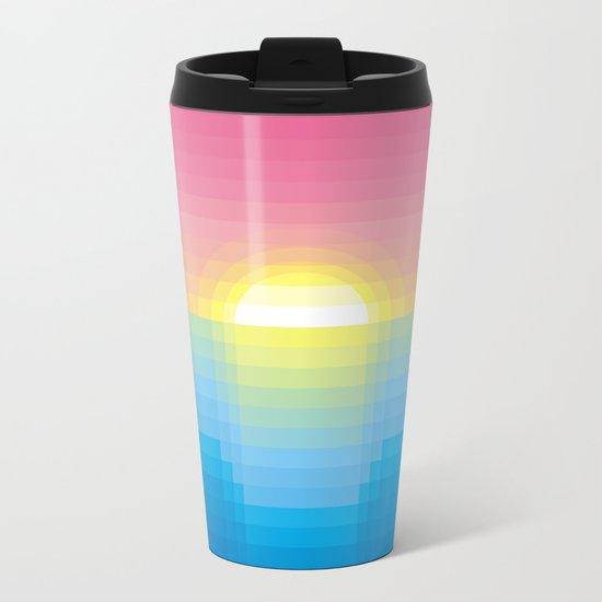 Sunset ~ strips Metal Travel Mug
