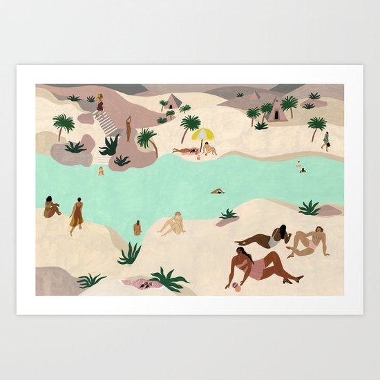 River in the Desert by isabellefeliu