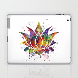 Lotus Flower 2 Watercolor Print Wall Art Wedding Gift Zen decor Laptop & iPad Skin