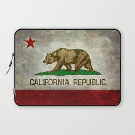 California flag - Retro Style Laptop Sleeve