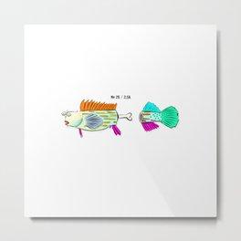 fish bone Metal Print