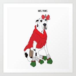 Mrs. Paws-Great Dane Dog Art Print