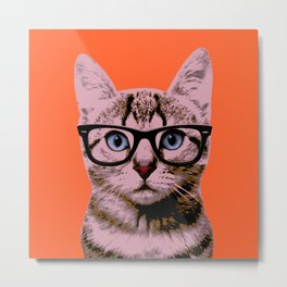 Warhol Cat 2 Metal Print