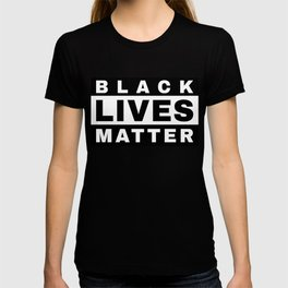 BLACK LIVES MATTER (in style of Explicit Content notice) T-shirt