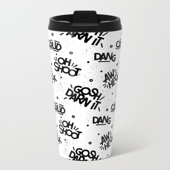 PG Cussin' Pattern Metal Travel Mug