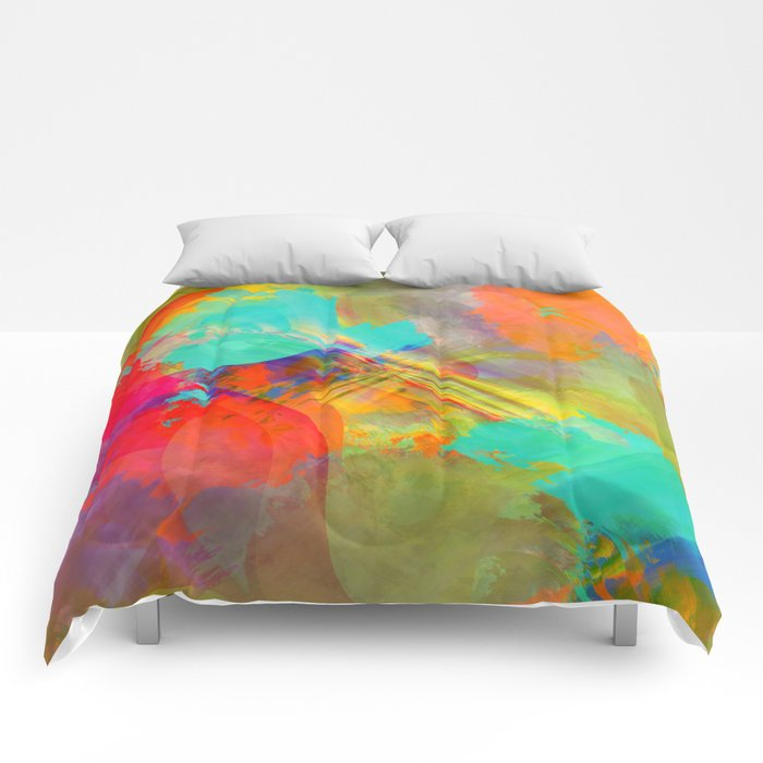 Multicolored abstract no. 27 Comforters