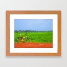 a ride in greenlush Framed Art Print
