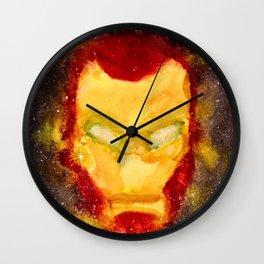 Space Iron Mask Wall Clock