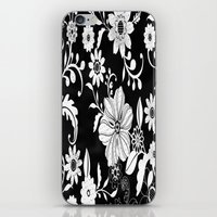 floral pattern iPhone & iPod Skins featuring Floral pattern by Laake-Photos