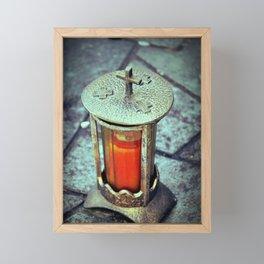 Light went Dark Framed Mini Art Print
