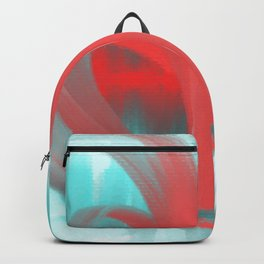 Abstract paint watercolor blue red Backpack
