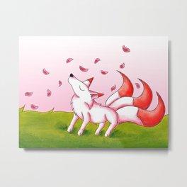 Sakura Winds Metal Print
