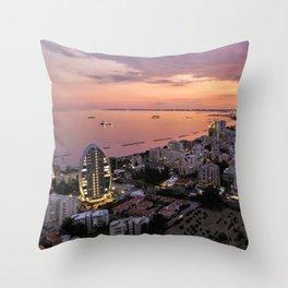 Limassol Skyline Throw Pillow
