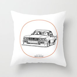 Crazy Car Art 0209 Throw Pillow
