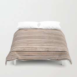 Weathered boards texture abstract Duvet Cover