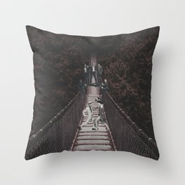 Distractions in the Woods Throw Pillow