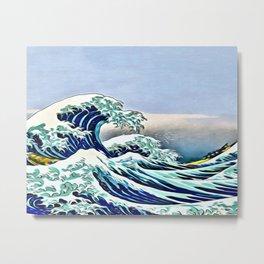 The Great Wave off Kanagawa Metal Print