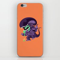 xenomorph iPhone & iPod Skins featuring Cute Xenomorph by nocturnallygeekyme