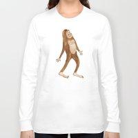 sasquatch Long Sleeve T-shirts featuring Sasquatch by Stephanie Marie Steinhauer