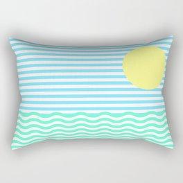 Coastline (Sunrise Blue) Rectangular Pillow