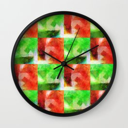 Apple Chequers Wall Clock