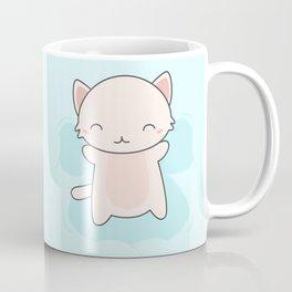 Kawaii Cute Snow Angel Cat Coffee Mug