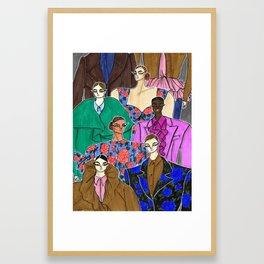 Delpozo Girls in Fall 2019 – Original Fashion art, Fashion Illustration, Fashion wall art Framed Art Print