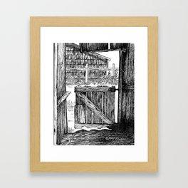 Old Mule Gate Framed Art Print