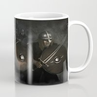 vikings Mugs featuring Vikings by Silvana Massa Art