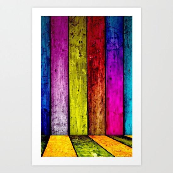 Color illusion3D Art Print