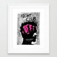 tyler durden Framed Art Prints featuring Tyler Durden by Dan K Norris
