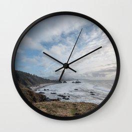 Beautiful Landscape at Ecola State Park Oregon Wall Clock