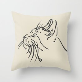 Wishful Whiskers Cat Throw Pillow